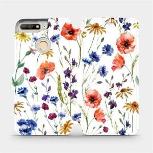 Flip pouzdro Mobiwear na mobil Huawei Y6 Prime 2018 - MP04S Luční kvítí