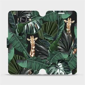Flip pouzdro Mobiwear na mobil Samsung Galaxy A5 2016 - VP06P Žirafky