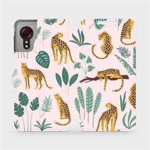 Flip pouzdro Mobiwear na mobil Samsung Galaxy Xcover 5 - MP07S Leopardi