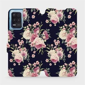 Flip pouzdro Mobiwear na mobil Realme 8 5G - V068P Růžičky