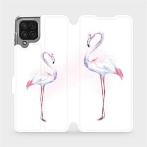 Flip pouzdro Mobiwear na mobil Samsung Galaxy M22 - M005S Plameňáci