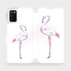 Flip pouzdro Mobiwear na mobil Samsung Galaxy A03s - M005S Plameňáci