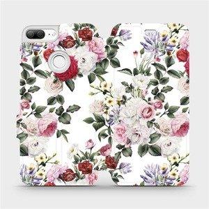 Flipové pouzdro Mobiwear na mobil Honor 9 Lite - MD01S Růže na bílé