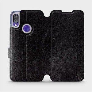 Flipové pouzdro Mobiwear na mobil Xiaomi Redmi Note 7 v provedení C_BLS Black&Gray s šedým vnitřkem