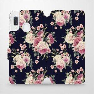 Flipové pouzdro Mobiwear na mobil Samsung Galaxy A20e - V068P Růžičky