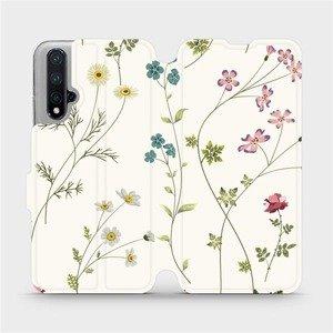 Flipové pouzdro Mobiwear na mobil Honor 20 - MD03S Tenké rostlinky s květy