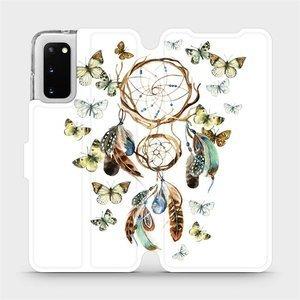 Flipové pouzdro Mobiwear na mobil Samsung Galaxy S20 - M001P Lapač a motýlci
