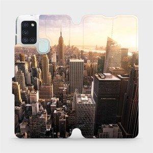 Flipové pouzdro Mobiwear na mobil Samsung Galaxy A21S - M138P New York