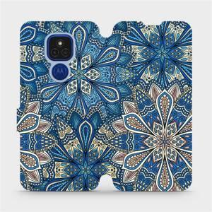 Flipové pouzdro Mobiwear na mobil Motorola Moto E7 Plus - V108P Modré mandala květy