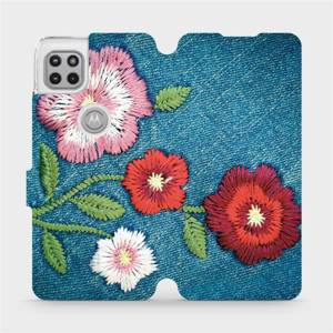 Flipové pouzdro Mobiwear na mobil Motorola Moto G 5G - MD05P Džínové květy