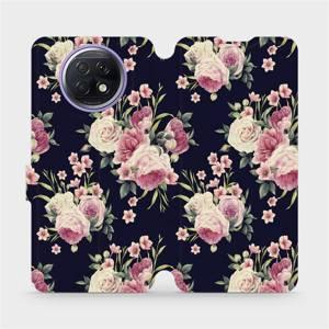 Flipové pouzdro Mobiwear na mobil Xiaomi Redmi Note 9T 5G - V068P Růžičky