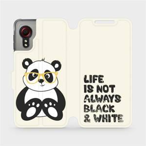 Flipové pouzdro Mobiwear na mobil Samsung Galaxy Xcover 5 - M041S Panda - life is not always black and white