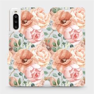 Flip pouzdro Mobiwear na mobil Sony Xperia 10 II - MP02S Pastelové květy