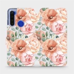 Flip pouzdro Mobiwear na mobil Xiaomi Redmi Note 8T - MP02S Pastelové květy