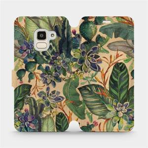 Flip pouzdro Mobiwear na mobil Samsung Galaxy J6 2018 - VP05S Sukulenty