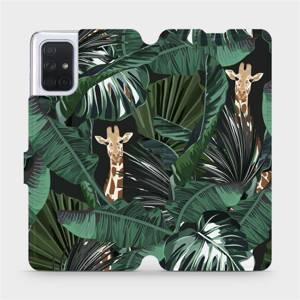 Flip pouzdro Mobiwear na mobil Samsung Galaxy A71 - VP06P Žirafky