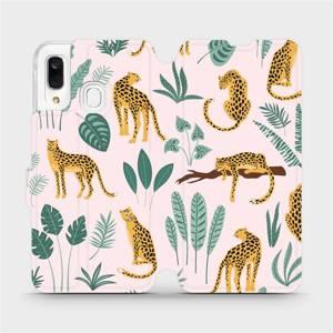 Flip pouzdro Mobiwear na mobil Samsung Galaxy A40 - MP07S Leopardi