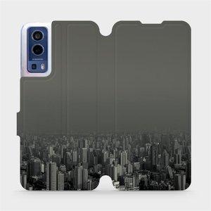 Flip pouzdro Mobiwear na mobil Vivo Y72 5G / Vivo Y52 5G - V063P Město v šedém hávu