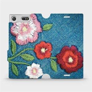 Flipové pouzdro Mobiwear na mobil Sony Xperia XZ1 Compact - MD05P Džínové květy