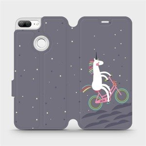 Flipové pouzdro Mobiwear na mobil Honor 9 Lite - V024P Jednorožec na kole