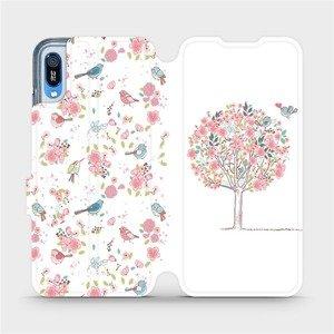 Flipové pouzdro Mobiwear na mobil Huawei Y6 2019 - M120S Strom a ptáčci