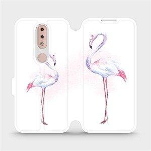 Flipové pouzdro Mobiwear na mobil Nokia 4.2 - M005S Plameňáci