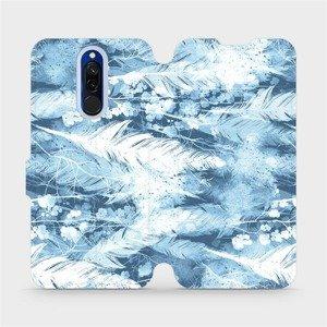 Flipové pouzdro Mobiwear na mobil Xiaomi Redmi 8 - M058S Světle modrá horizontální pírka