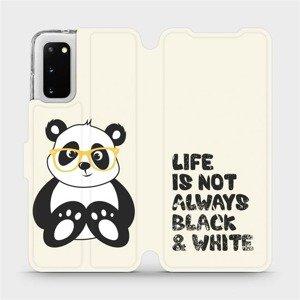 Flipové pouzdro Mobiwear na mobil Samsung Galaxy S20 - M041S Panda - life is not always black and white