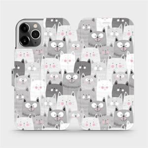 Flipové pouzdro Mobiwear na mobil Apple iPhone 12 Pro - M099P Kočičky