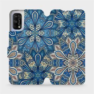 Flipové pouzdro Mobiwear na mobil Realme 7 5G - V108P Modré mandala květy