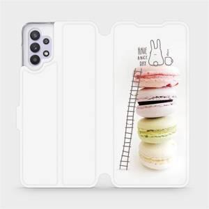 Flipové pouzdro Mobiwear na mobil Samsung Galaxy A32 5G - M090P Makronky - have a nice day
