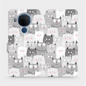 Flipové pouzdro Mobiwear na mobil Nokia 5.4 - M099P Kočičky