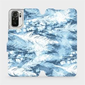 Flipové pouzdro Mobiwear na mobil Xiaomi Redmi Note 10S - M058S Světle modrá horizontální pírka