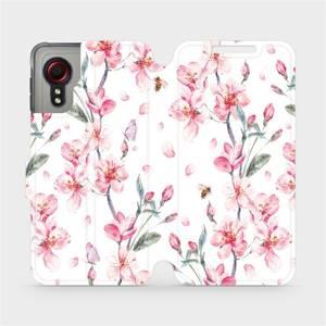 Flipové pouzdro Mobiwear na mobil Samsung Galaxy Xcover 5 - M124S Růžové květy