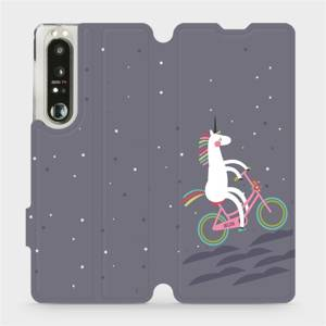 Flip pouzdro Mobiwear na mobil Sony Xperia 1 III - V024P Jednorožec na kole