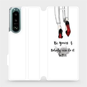 Flip pouzdro Mobiwear na mobil Sony Xperia 5 III - M046P Be yourself