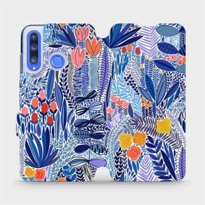 Flip pouzdro Mobiwear na mobil Honor 20 Lite - MP03P Modrá květena