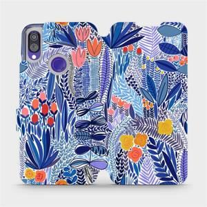 Flip pouzdro Mobiwear na mobil Xiaomi Redmi Note 7 - MP03P Modrá květena