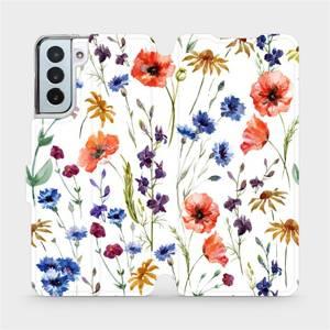 Flip pouzdro Mobiwear na mobil Samsung Galaxy S21 Plus - MP04S Luční kvítí