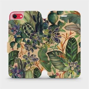Flip pouzdro Mobiwear na mobil Apple iPhone SE 2020 - VP05S Sukulenty