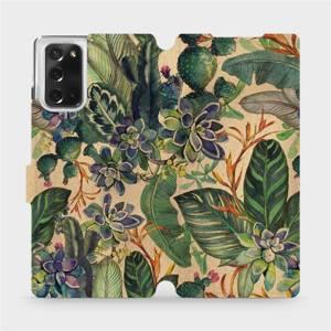 Flip pouzdro Mobiwear na mobil Samsung Galaxy Note 20 - VP05S Sukulenty