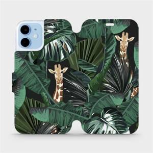 Flip pouzdro Mobiwear na mobil Apple iPhone 12 Mini - VP06P Žirafky