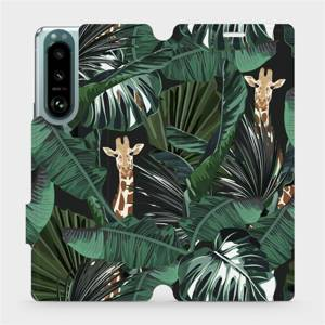Flip pouzdro Mobiwear na mobil Sony Xperia 5 III - VP06P Žirafky