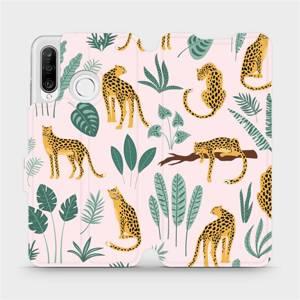 Flip pouzdro Mobiwear na mobil Huawei P30 Lite - MP07S Leopardi