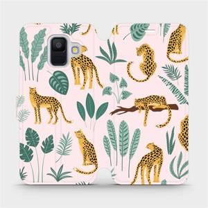Flip pouzdro Mobiwear na mobil Samsung Galaxy A6 2018 - MP07S Leopardi