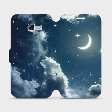 Flipové pouzdro Mobiwear na mobil Samsung Galaxy A3 2017 - V145P Noční obloha s měsícem