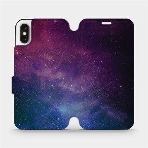 Flipové pouzdro Mobiwear na mobil Apple iPhone X - V147P Mlhovina