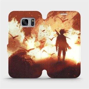 Flipové pouzdro Mobiwear na mobil Samsung Galaxy S7 Edge - MA06S Postava v ohni