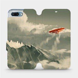 Flipové pouzdro Mobiwear na mobil Honor 10 - MA03P Oranžové letadlo v horách