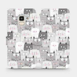 Flipové pouzdro Mobiwear na mobil Samsung Galaxy J6 2018 - M099P Kočičky